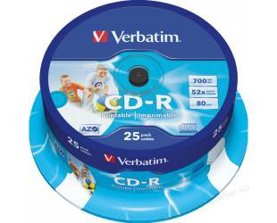 Diskas VERBATIM CD-R PRINTABLE 43439, 25vnt
