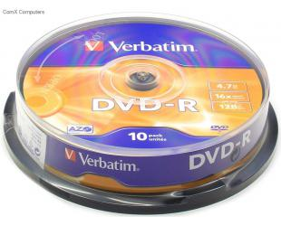 Diskas VERBATIM DVD-R 43523, 10vnt