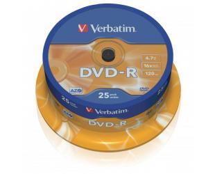Diskas VERBATIM DVD-R 43522, 25vnt