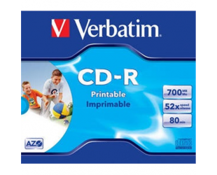 Diskas VERBATIM CD-R PRINTABLE, 43325