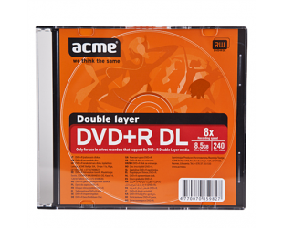 Diskas ACME DVD+R DOUBLE LAYER 8,5GB 8X