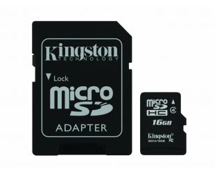 Atminties kortelė KINGSTON MicroSD 16GB, cl4