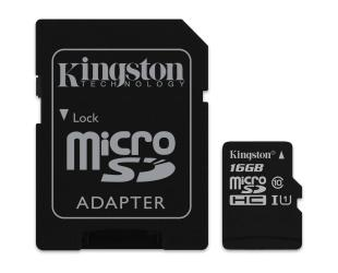 Atminties kortelė KINGSTON 16GB microSDHC, cl10