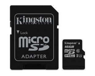 Atminties kortelė KINGSTON 16GB microSDHC, UHS-I