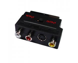 Adapteris SINOX SCART M - 3xRCA