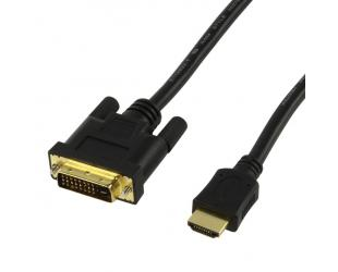 Laidas HDMI M - DVI-D M, 1.5 m.
