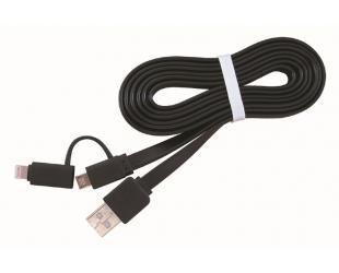Laidas Gembird USB A  - Lightning/microUSB, 1 m.