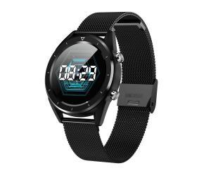 """Išmanusis laikrodis DT NO.1 DT28 1,54"""" IP68, su metaline apyranke, juodas"""