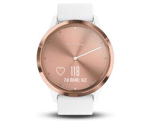 Išmanusis laikrodis Garmin vivomove HR rose gold su S/M dydžio apyranke