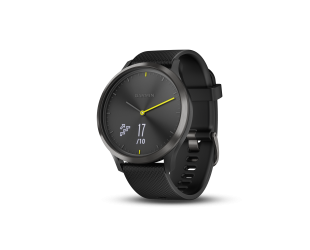 Išmanusis laikrodis Garmin vivomove HR sport black su L dydžio apyranke
