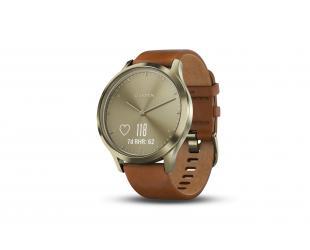 Išmanusis laikrodis Garmin vivomove HR Premium gold su S/M dydžio apyranke