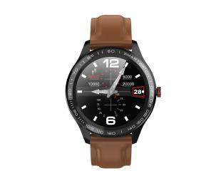 Išmanusis laikrodis Microwear L9 rudas odinis IP68