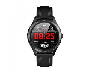 Išmanusis laikrodis Microwear L9 juodas odinis IP68
