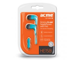 Ausinės su mikrofonu ACME HE15B Groovy , mėlynos