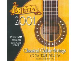 Gitaros stygos LA BELLA 2001MED tension