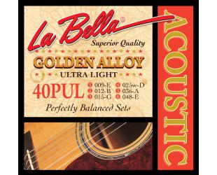 Stygos gitarai La Bella Acoustic 40PUL
