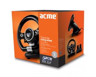 Žaidimų vairas ACME STi, PC/USB