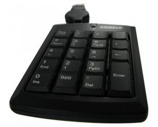 Klaviatūra skaičių 4WORLD 03409, juoda