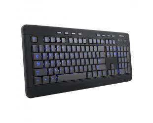 Klaviatūra MODECOM MC-9006, juoda, US