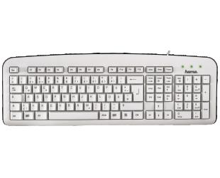 Klaviatūra HAMA K210, balta