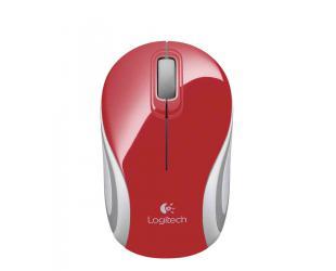 Belaidė pelė LOGITECH m187 mini, raudona