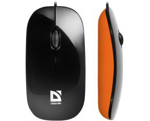 Optinė pelė DEFENDER MM-440, juoda/oranžinė