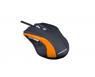 Pelė MODECOM M5, juoda/oranžinė