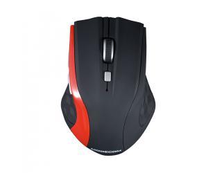 Belaidė pelė MODECOM WM5, juoda/raudona