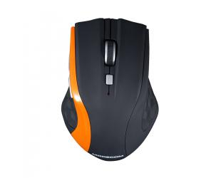 Belaidė pelė MODECOM WM5, juoda/oranžinė