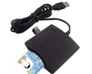 Skaitytuvas USB ID SMART CARD N68, juodas