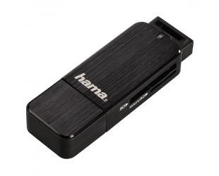 Skaitytuvas HAMA USB 3.0 SD/MICRO SD, juodas
