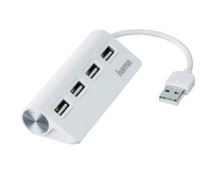Šakotuvas USB HAMA 1:4, baltas