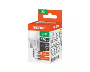 LED lemputė ACME Mini Globe 6W E27