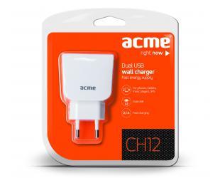 Įkroviklis ACME CH12 230V 2xUSB, 2.1A