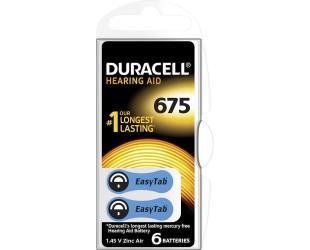 Elementai klausos aparatui DURACELL DA675 N6
