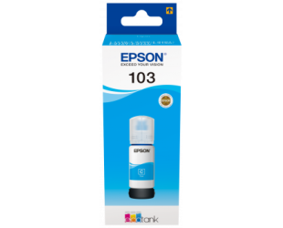 Rašalinė EPSON 103C, melsvos spalvos