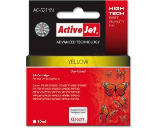 Rašalinė ACTIVEJET CLI-521Y, geltona