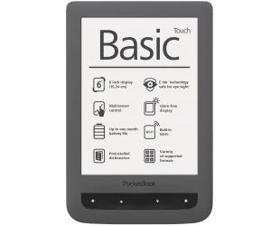Elektroninė knygų skaityklė POCKETBOOK Basic Touch 624 WIFI 6'' 4GB, pilka