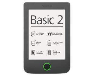 Elektroninė knygų skaityklė POCKETBOOK Basic 2 614 WIFI 6'' 4GB, pilka
