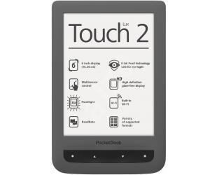Elektroninė knygų skaityklė POCKETBOOK Touch Lux 2 6'' 4GB WIFI, pilka