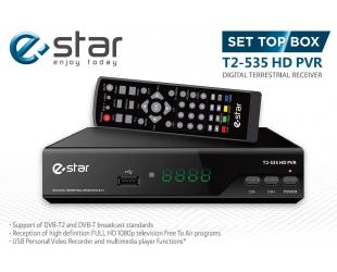 TV imtuvas eSTAR DVB-T2 535 HD DVB-T