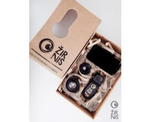 Objektyvų rinkinys telefonui ŽIRNIS, sidabrinis