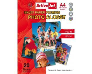 Fotopopierius ACTIVEJET, A4, 20 vnt., 180g/m2, blizgus