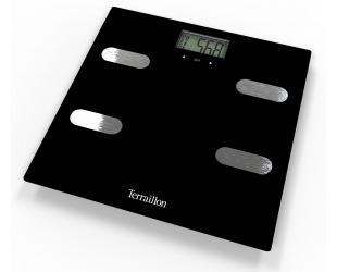 Svarstyklės TERRAILLON 14464 Fitness Black, kūno analizatorius, KMI, 150kg /100g.