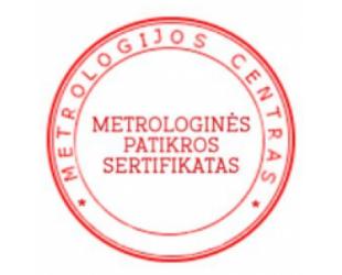 Metrologinės patikros sertifikatas alkotesteriui ALCOWAY NF