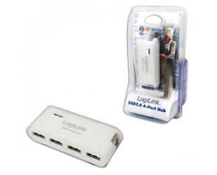 USB adapteris Logilink USB 2.0 Hub-4 port whit power adapter