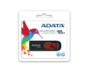 USB raktas ADATA C008 16GB USB 2.0 Black/Red