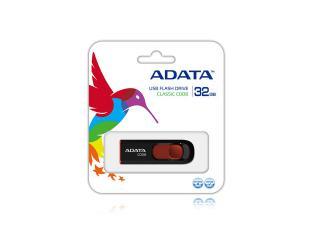 USB raktas ADATA C008 32GB USB 2.0 Black/Red