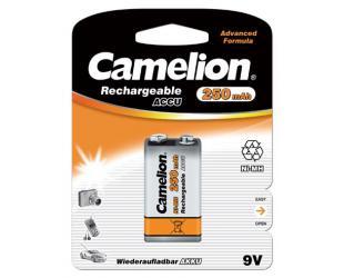 Įkraunamos barterijos Camelion 9V/6HR61, 250 mAh, Ni-MH, 1 vnt