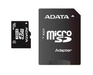 Atminties kortelė ADATA 16GB Micro SDHC CL4 su SD adapteriu